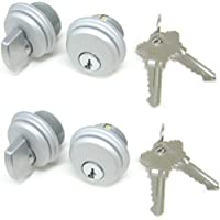 2 Sets, Matching Keys McAvory Storefront Door Commercial Mortise Lock Cylinder /& Thumbturn Adams Rite Style Cam in Dark Brown
