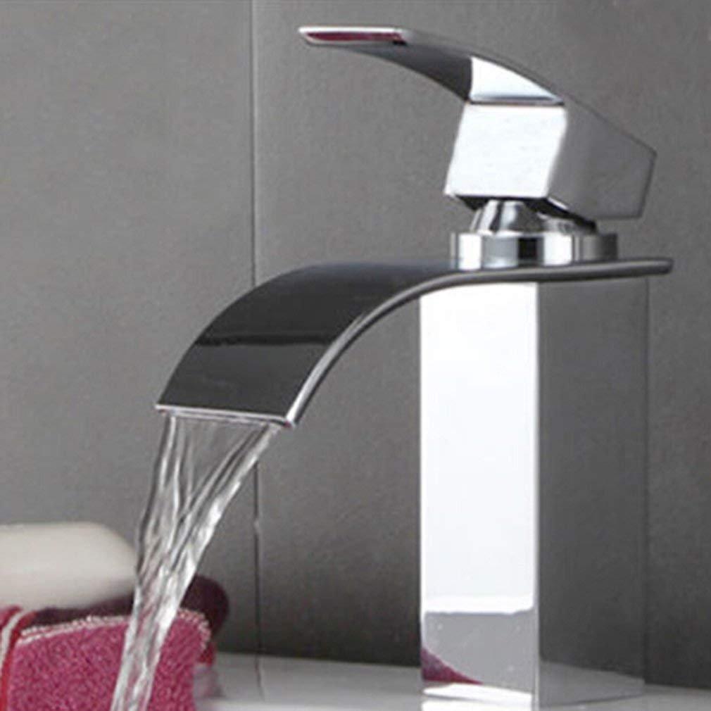 outad Messing Wasserhahn flach Mund Wasserfall Waschbecken Badezimmer Küche  Waschbecken Mischbatterie Wasserhahn Wasserhahn