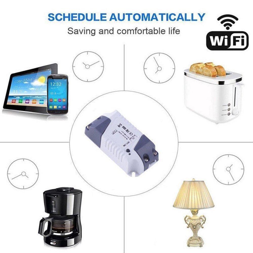 trabajar con  eco de Alexa y El motor de busqueda de google Control de voz sin hilos y del temporizador TOOGOO Inteligente enchufe Wifi remota luz interruptor Universal modulo de rele
