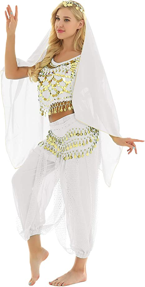 YiZYiF Disfraz Princesa Árabe Traje Danza del Vientre India para ...