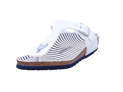 a4b375b92724 Birkenstock Gizeh Kids Nautical Stripes Girl,Flip-Flops Cork,Kids,Striped  Insole