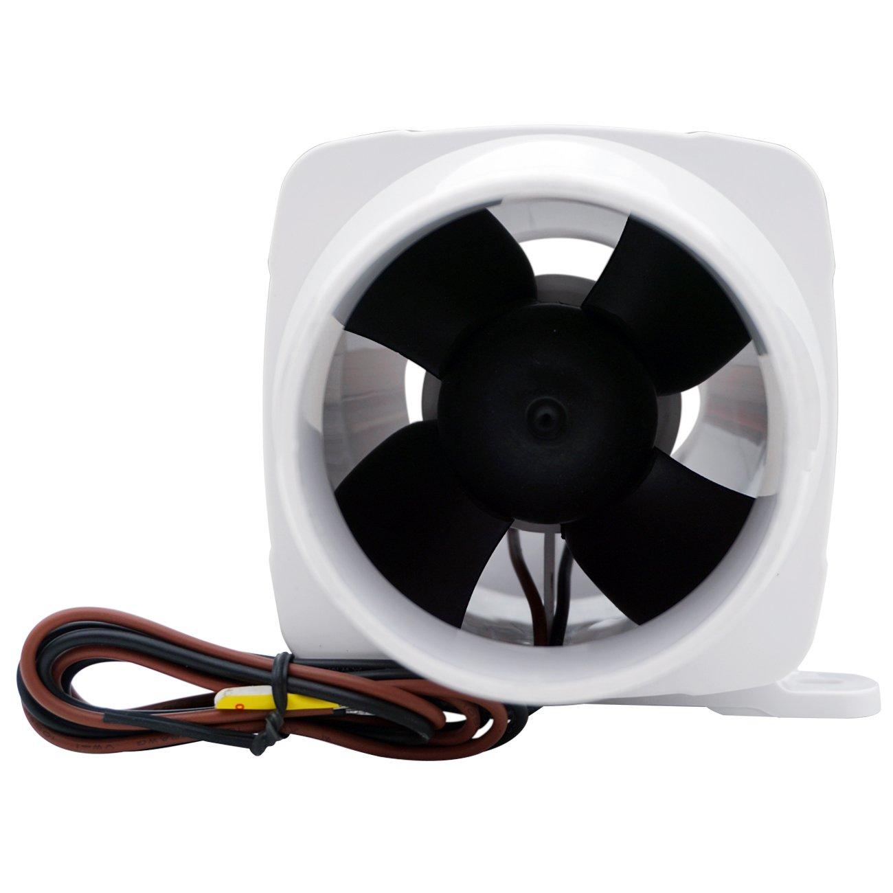 dchouse 130/CFM 12/V 7,6/cm Manguera Marine sentina Vent de ventiladores Fan Ventilaci/ón Barco Caravana