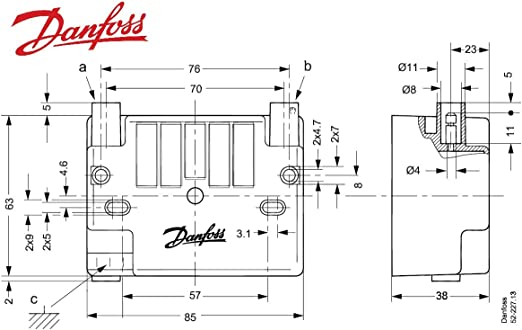 Danfoss Z/ündtrafo EBI4 f/ür Buderus BRE BE 052F4031 BE-A