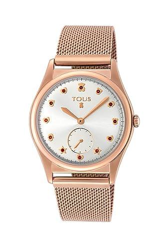 67a979f4d25a Reloj Tous Free de Acero IP Rosado para Mujer 800350825  Amazon.es  Relojes