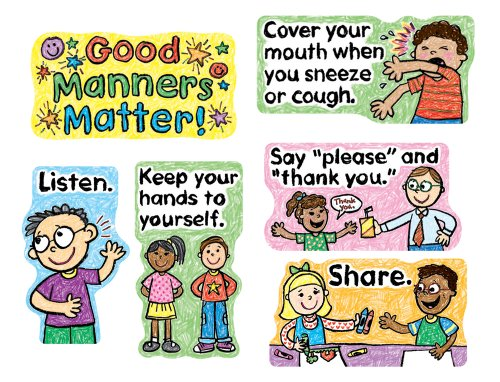 (Carson Dellosa Good Manners Matter Bulletin Board Set)