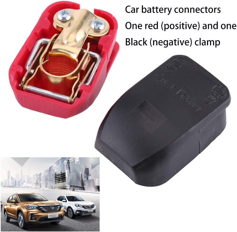 bornes pour connecteurs Cutogain Borne de Connexion connecteurs pour bornes Camping-Car Caravane Voiture 2 bornes pour Batterie de Loisirs