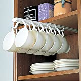 under counter coffee cup holder - Under Shelf Mugs Cups,Creative Cup Storage Rack Household Cup Upside Down Hanger Coffee Cup Holder Hanging Cup Holder
