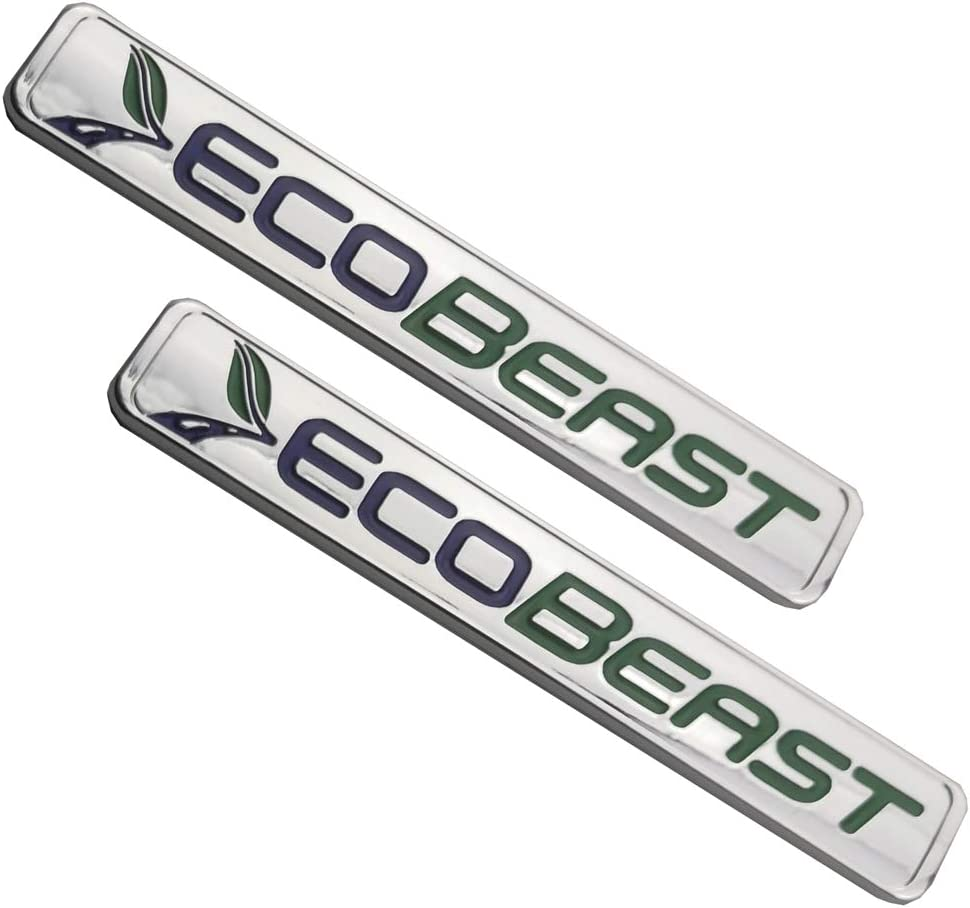 Black Green 2pcs ECOBEAST Badge Emblems 3D Sticker Nameplate Door Fender Tailgate Stickers Replacement for 2011 2012 2013 2014 2015 2016 2017 2018 2019 F-150