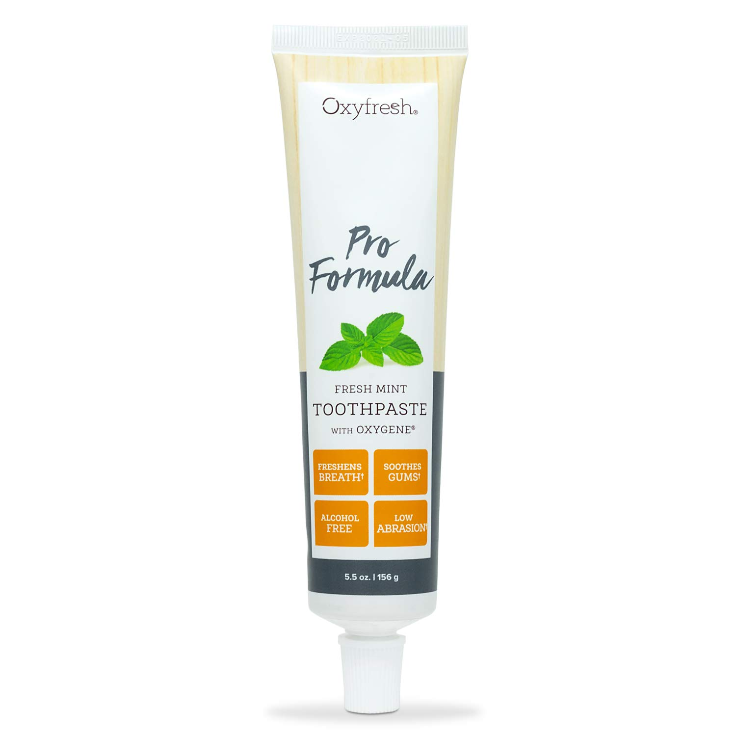 Oxyfresh Pro Formula Fresh Mint Toothpaste – Gentle Low Abrasion - Cosmetic Fluoride Free Formula - Great for Sensitive Teeth and Gums with Natural Essential Oils. 5.5 oz.