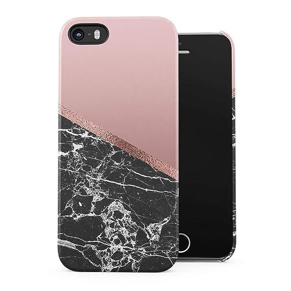 competitive price 0d1e2 0223a Amazon.com: Black Cracked Marble & Rose Gold Blocks Hard Plastic ...