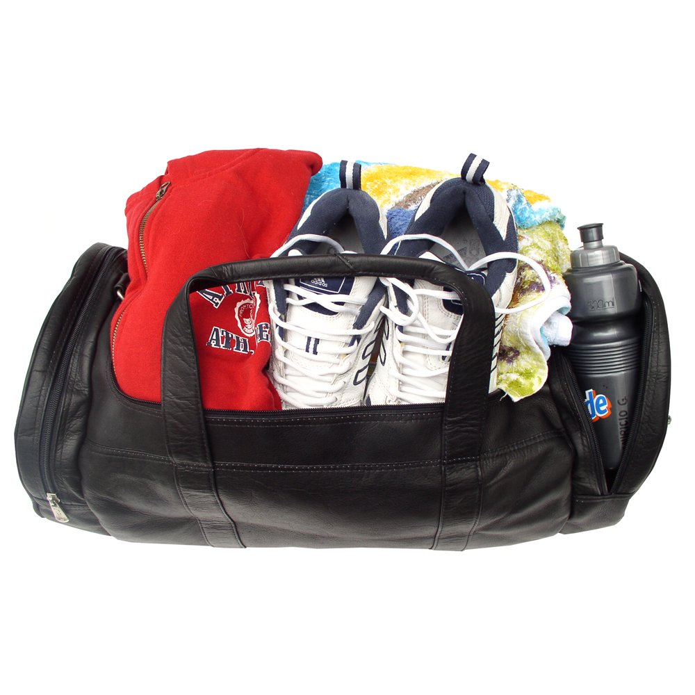 Piel Leather Gym Bag, Black, One Size by Piel Leather (Image #3)