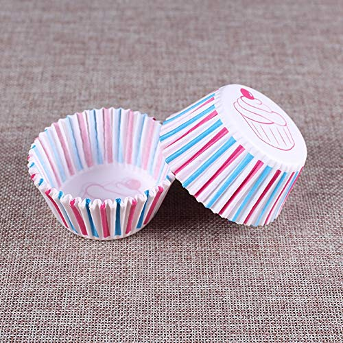 (1 lot 100PCS/Set Colorful Paper Cake Cup Forms Paper Cupcake Liner Baking Muffin Box Cup Case Party Tray Cake Mold Decorating Tools)