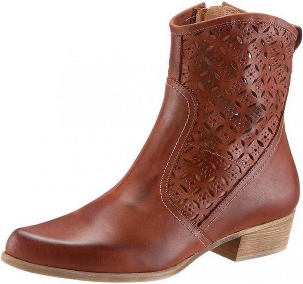 Braune Stiefelette zum schnüren (36): : Schuhe