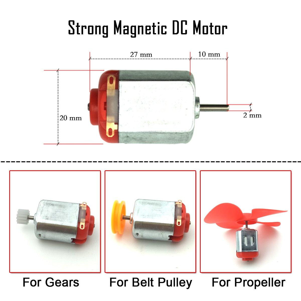 EUDAX 10pcs Micro 130 DC Motor Strong Magnetic Carbon brush DC 3V -12V  25000 RPM