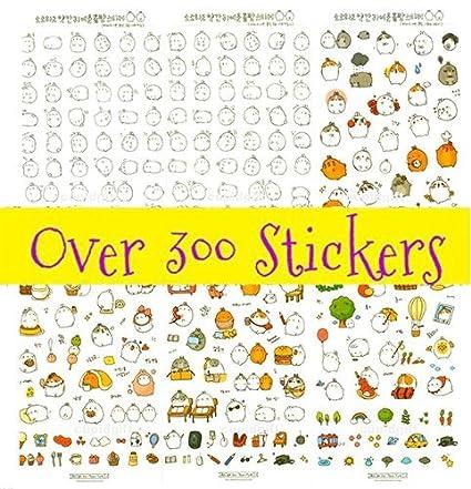 Cute Bunny Rabbit Charactor Sticker Diary Scrap Book Scrapbooking Decor Decoration 6 Sheets Lot Korean Stationery
