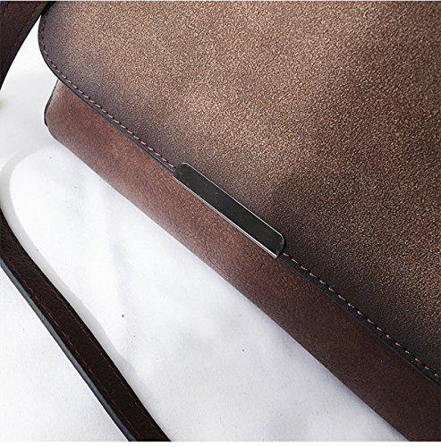 Women High 2018 Bag Bag Handbags Leather capacity Retro New Wild Shoulder Black Fashion Black Big Spring Messenger AqpPE