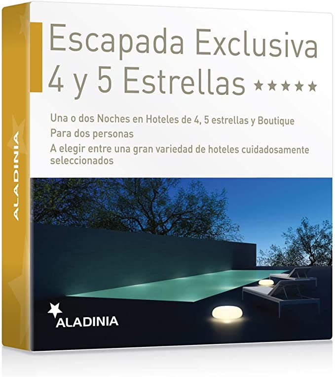 ALADINIA Box Caja Regalo Pack Escapada Exclusiva 4 y 5 Estrellas ...