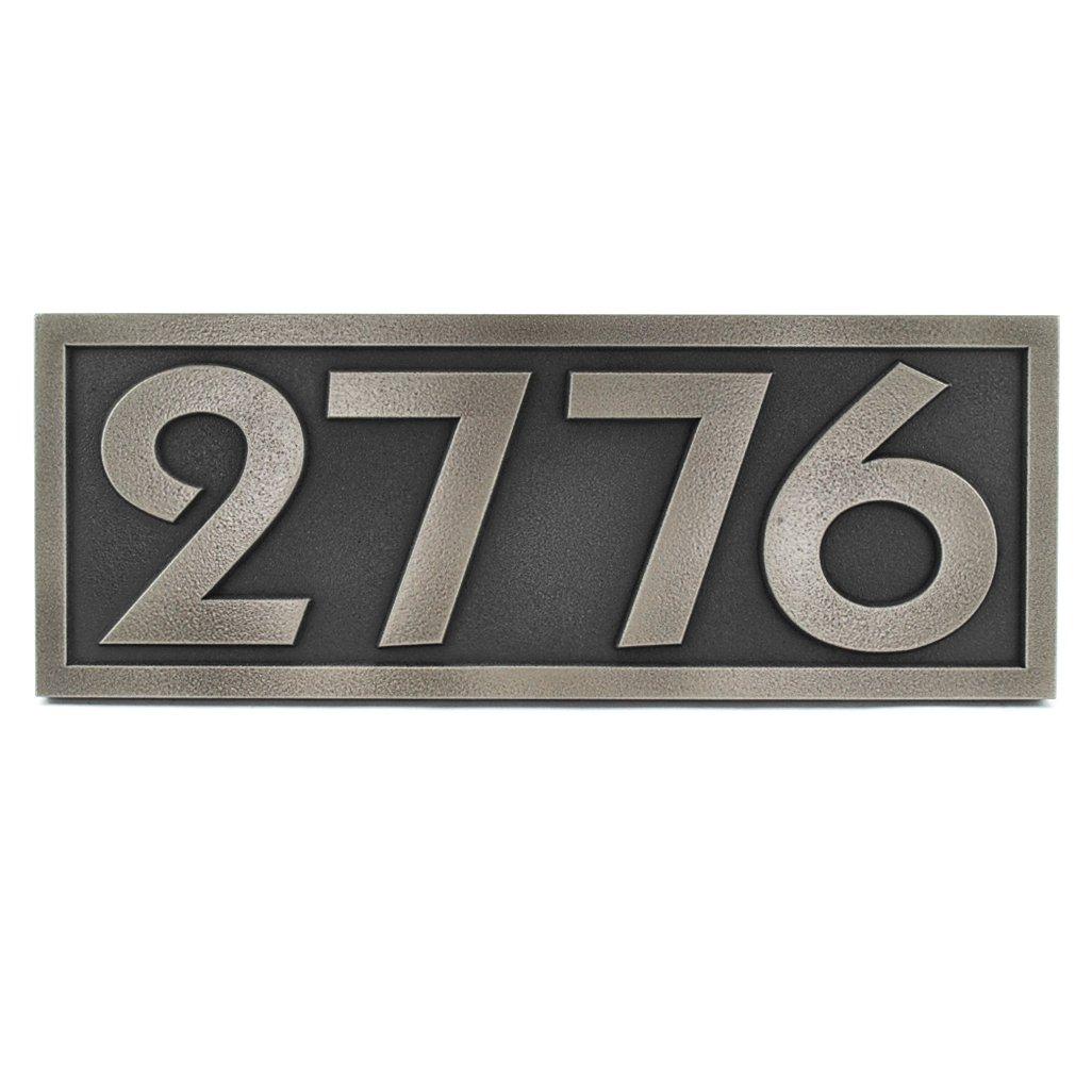 Pleione Address Plaque 16x6 - Raised Stainless Steel Metal Coated