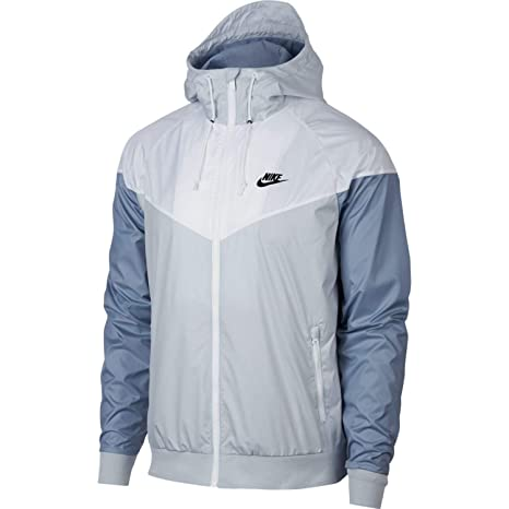274471aca8 Buy Nike Mens Windrunner Hooded Track Jacket Pure Platinum White Glacier  Grey 727324-044 Size Medium Online at Low Prices in India - Amazon.in
