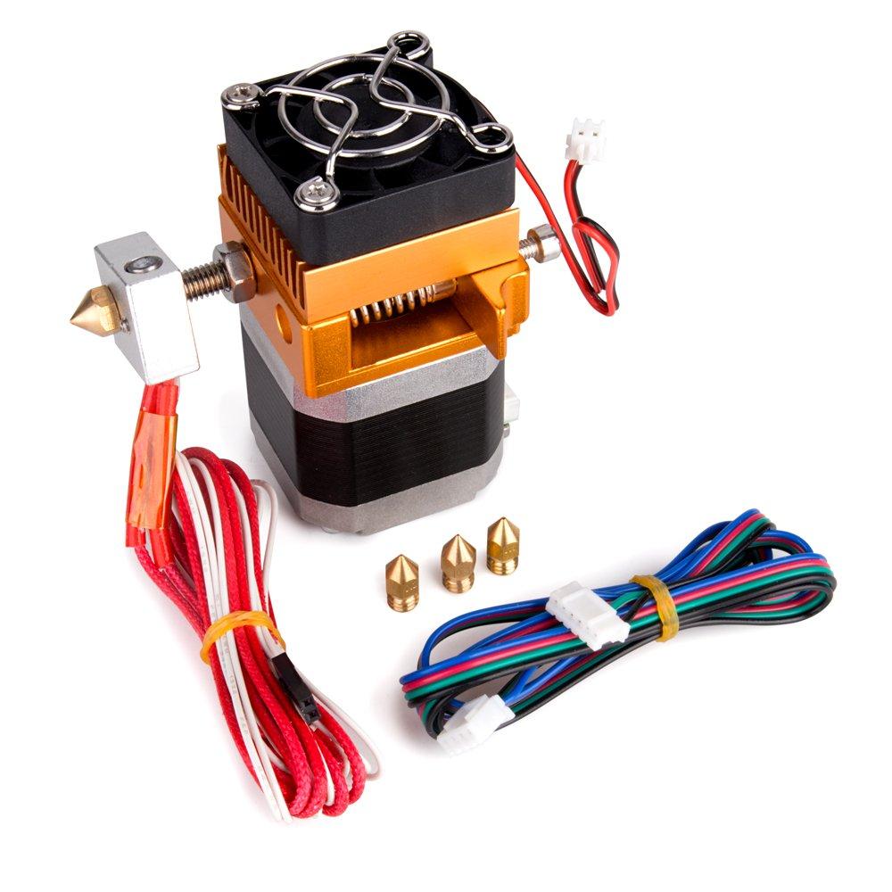 MK8 Extruder Hotend 3D Printer with 0.2mm/0.3mm/0.4mm/0.5mm Nozzle for MakerBot Prusa i3 Reprap 3D Printer, 1.75mm Filament Support TopDirect TD002