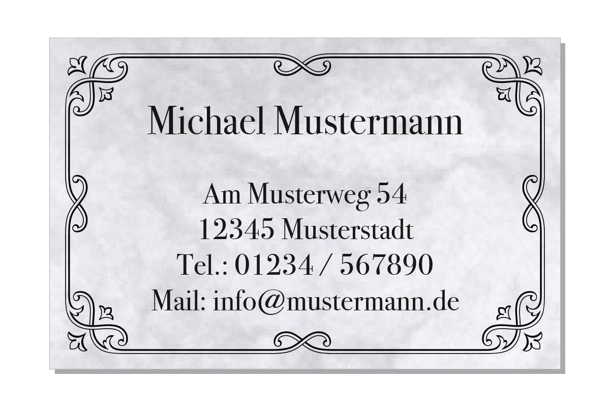 100 Visitenkarten 85 X 55 Mm Inkl Kartenspender Design