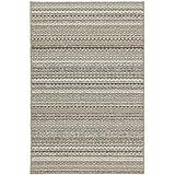 garland rug carnival area rug 4feet by 6feet random earthtone stripes