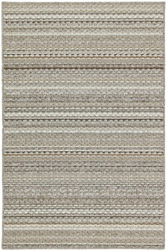 Garland Rug Carnival Area Rug, 5-Feet by 7-Feet, Random Earthtone Stripes