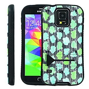 [ManiaGear] Ultra Rugged Design ShockProof Armor KickStand Case (Leave Pattern) for Samsung Galaxy S5