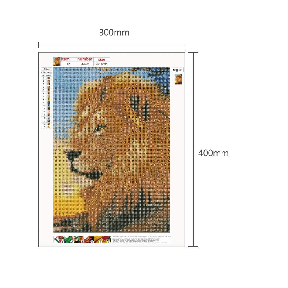 Macrorun Full Drill 5D DIY Diamond Painting Kit Round Diamond Dotz Embroidery Art Craft Cross Stitch Home Wall Picture Bedroom Living Room Decoration 16 X 12 Dinosaur