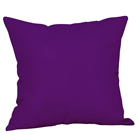 LEEDY - Funda de cojín con Estampado Morado para sofá de salón o Dormitorio con Cremallera Invisible de 45,7 x 45,7 cm, poliéster, C, Medium