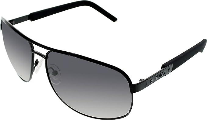 Amazon.com: Guess de los hombres gu6800-blk-35 Gafas de sol ...