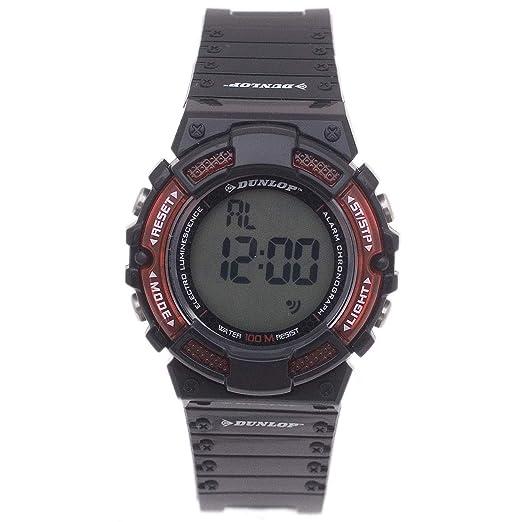 Dunlop Reloj Digital para Hombre de Automático con Correa en Resina DUN-187-L07: Amazon.es: Relojes