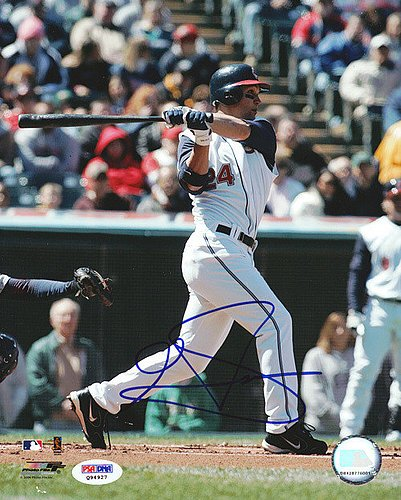 Grady Sizemore Signed 8x10 Photograph Indians - Certified...