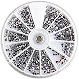3000 Pcs Crystal Glitter Rhinestone Nail Art Tips Decoration 2mm+Wheel Beauty