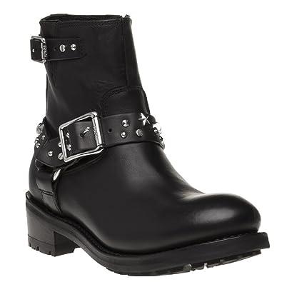 240161e87 Karl Lagerfeld Biker Celestia Strap Lo Femme Boots Noir: Amazon.fr ...