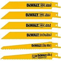 DEWALT DW4856 Metal/Woodcutting Reciprocating Saw Blade Set, 6-Piece