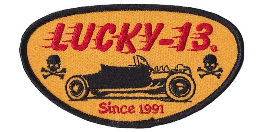Lucky 13 Rodder Drag Racing Hot Rod Patch