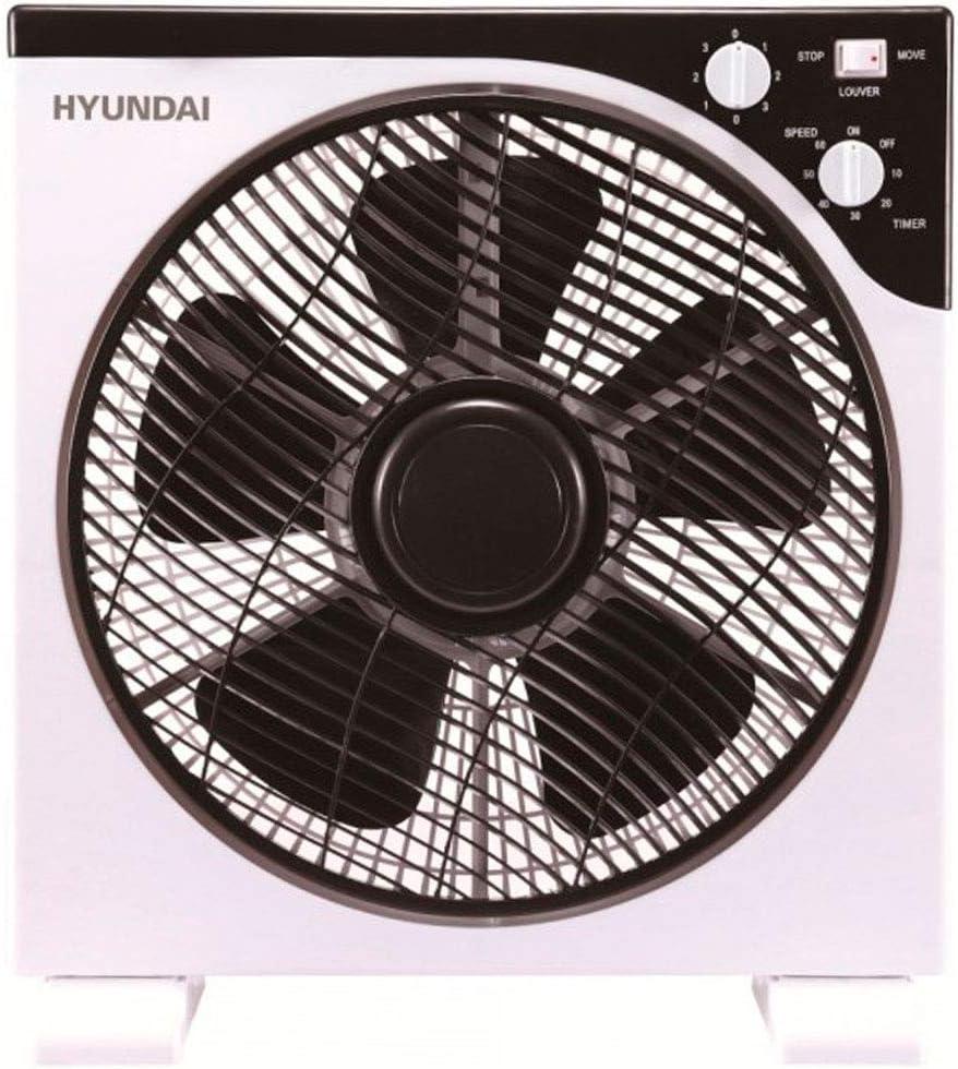 Hyundai Electrics Ventilador, Blanco/Negro, 30_cm: Amazon.es: Hogar