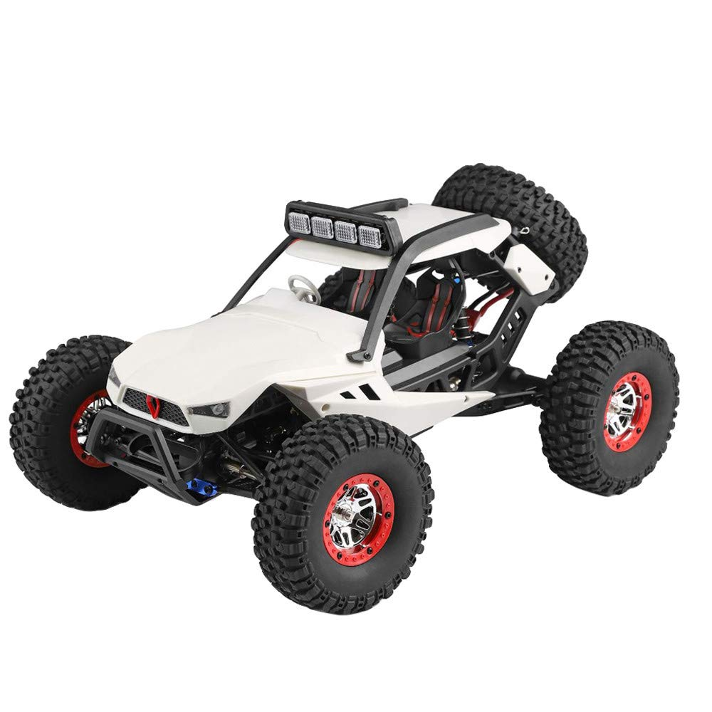 Choosebuy❤️ Wl 540 Brush Motor High Speed 40km/h 1:12 4D 2.4GHz Radio Off-Road Remote Control Car Racing with LED Children Adults Christmas Birthday Gift (White)