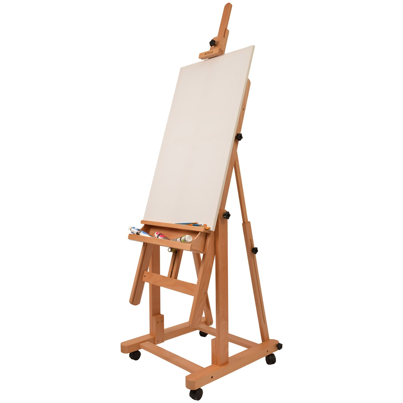 Artina Profi Atelierstaffelei Verona als Studio-Staffelei auf 4 ...