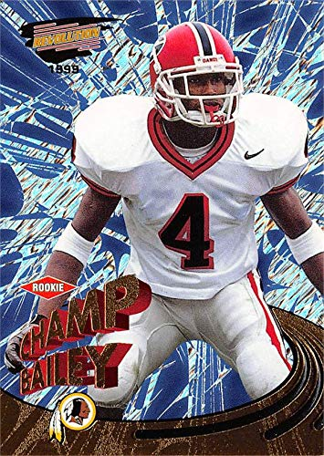 1999 Revolution - Champ Bailey Football Card (Georgia Bulldogs) 1999 Pacific Revolution Rookie Refractor #173