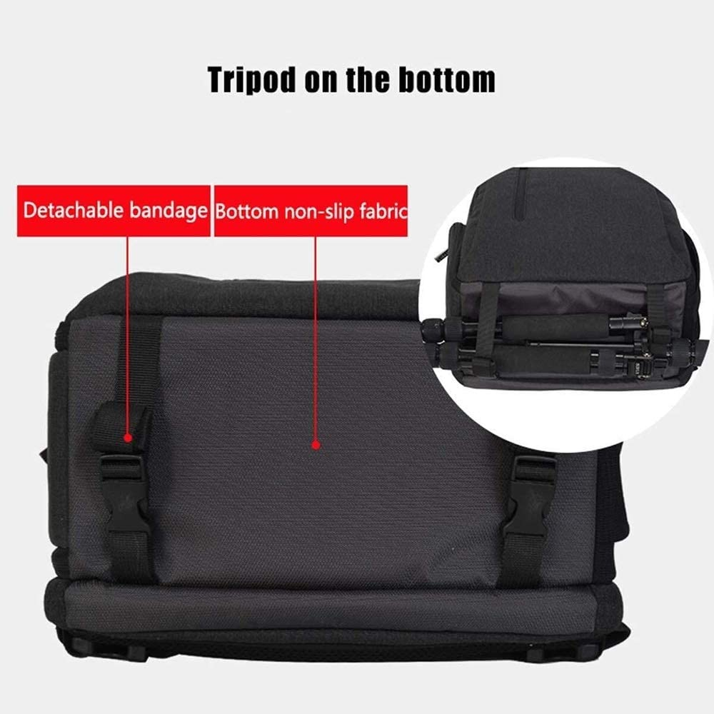 33 X 17 X 43cm Black Versatile Zhengtufuzhuang Multi-Functional Stand-Alone Camera Backpack Shock-Proof Waterproof Backpack Tripod Lens and Accessories Large-Capacity Storage Bag