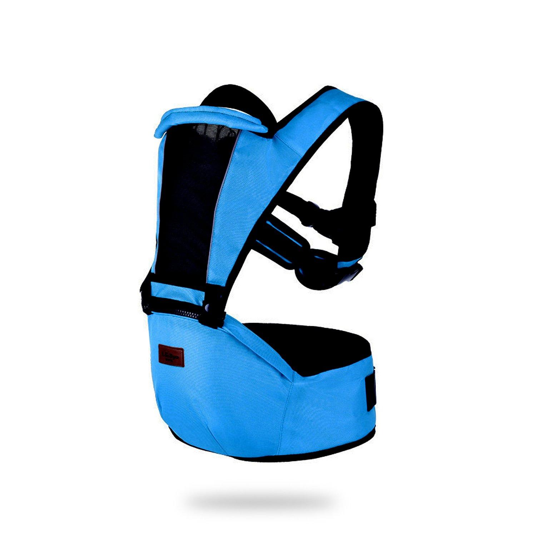 SONARIN 2018 Premium Hipseat Babytrage, vorne, horizontal, multifunktional, ergonomisch, 6 Tragende Positionen, Sicher und Komfortabel, angepasst an Ihr Kind wachsende, einfach zu tragen und einfach Mama, Ideal Geschenk(Blau)