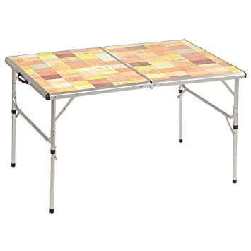 Amazoncom Coleman Outdoor Folding Table with Mosaic Top