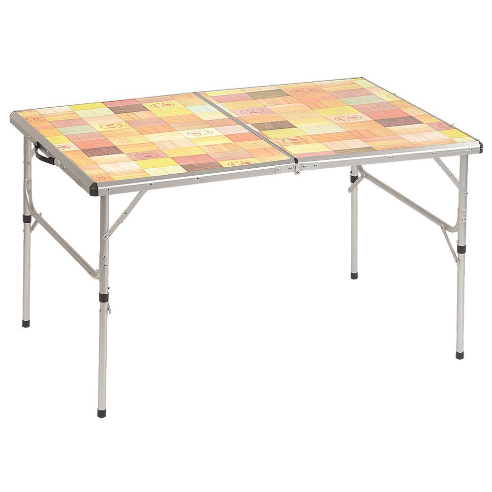 Coleman Outdoor Folding Table with Mosaic Top