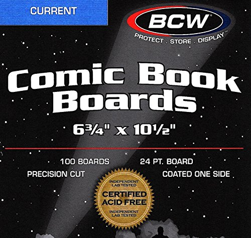 800 Current Modern Resealable Comic Bags and Backing Boards by BCW (Image #1)'