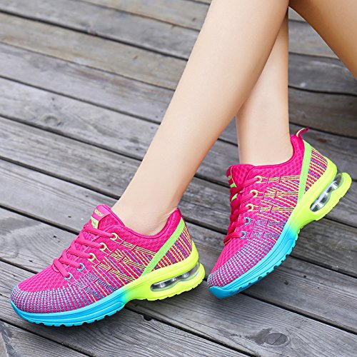 JieLuka Ladies Fleece Mesh Fashion Sneakers Round Toe Casual Low Sneakers