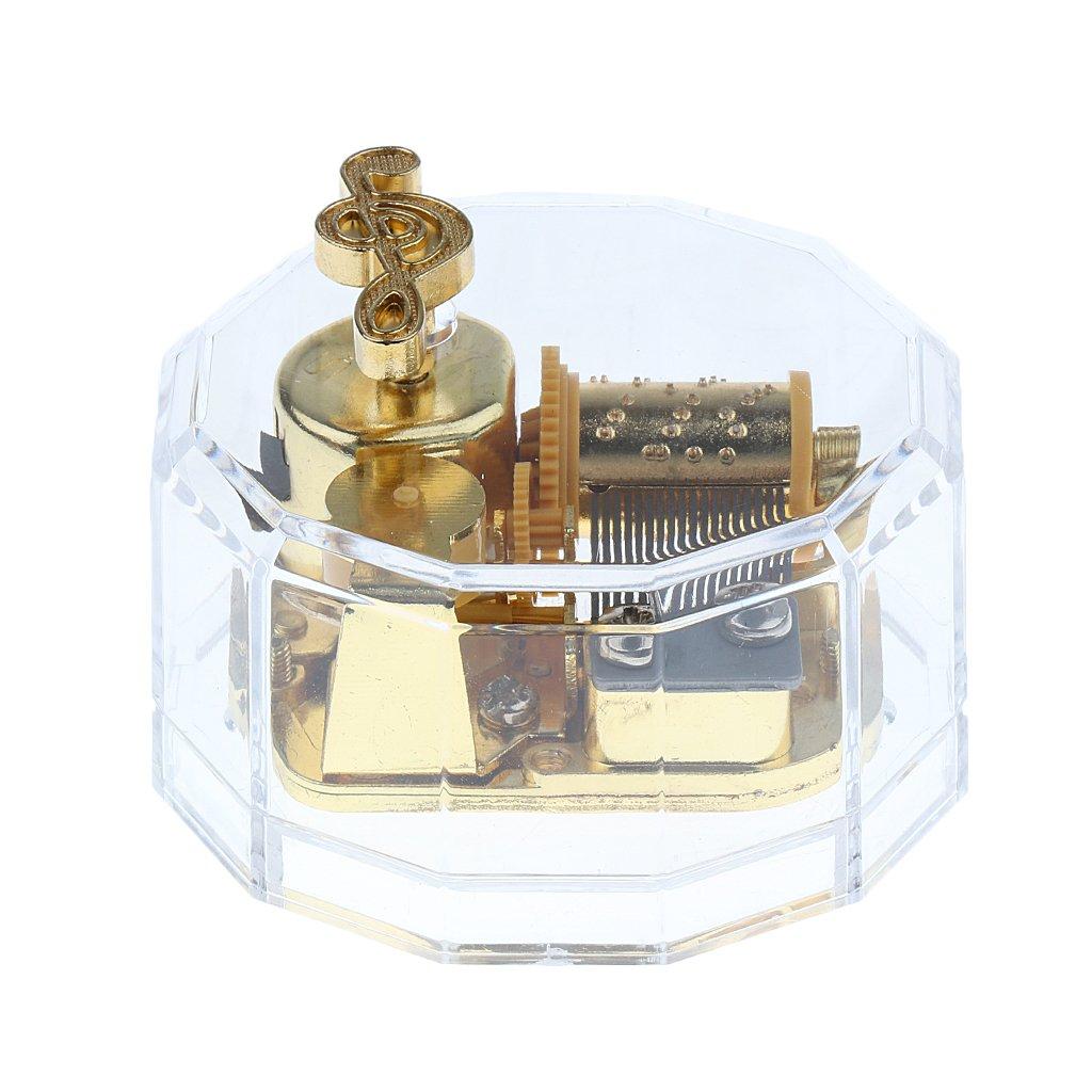 Acrílico Dodecágono Reloj Caja De Música Melodía Caja De ...