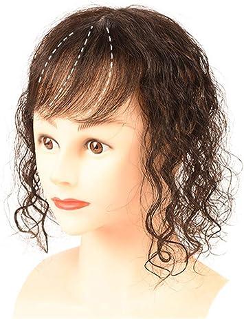 Couronne De Cheveux Humains Boucles A Clipser Pour Femme Avec Cheveux Clairsemes Base En Soie De 8 9 X 14 Cm 30 Cm Marron Fonce Amazon Fr Beaute Et Parfum