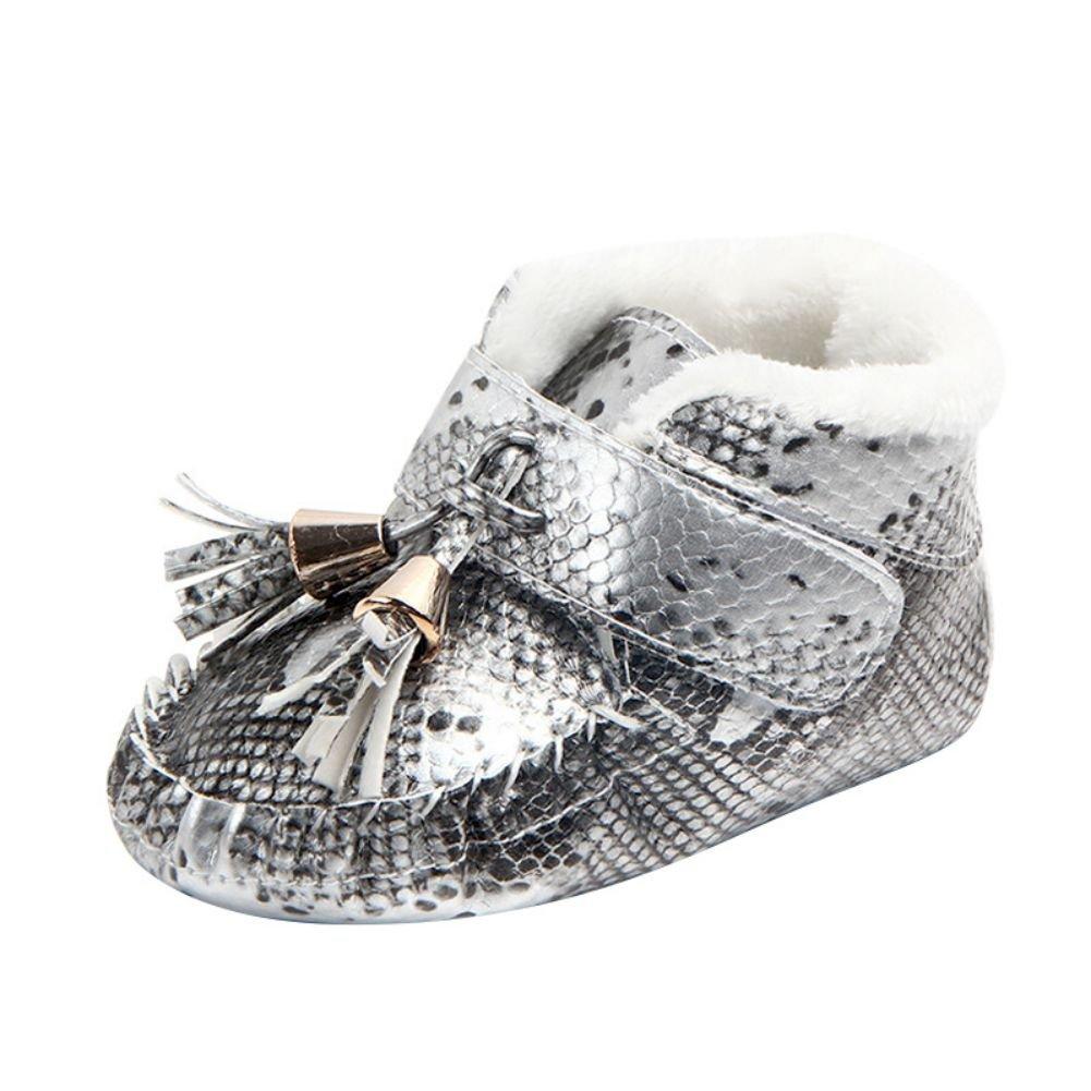 Weixinbuy Unisex Baby Soft Plush Winter Warm Slipper Loafers Crib Shoes
